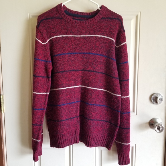 Aeropostale Red Sweater with Stripes